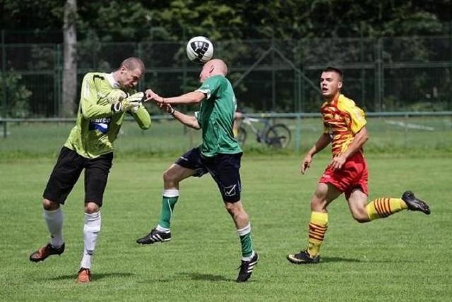 Piłkarze Rudni (zielone koszulki) dostali wielkie lanie od młodej Jagiellonii