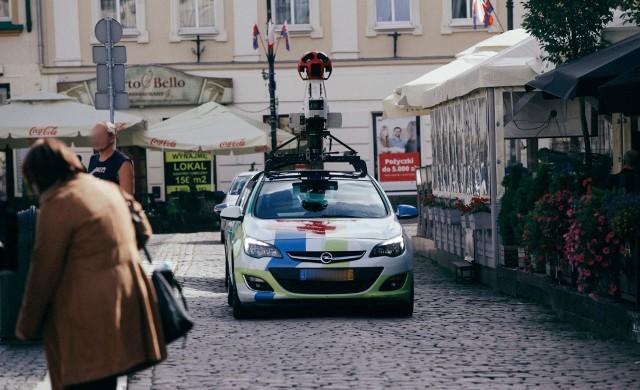 Zdjęcie archiwalne - samochód Google Street View w Bydgoszczy