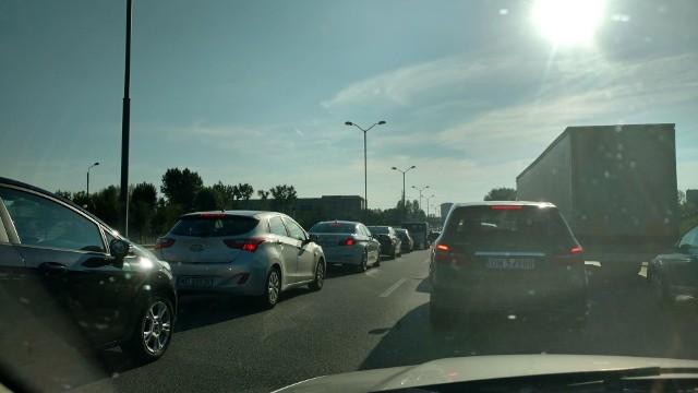 Zderzenie 4 samochodów na ul. Murckowskiej było Przyczyną korków w Katowicach