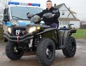 Po takim quadzie dostaną policjanci ze Szczecinka, Drawska Pomorskiego, Gryfic, Sławna i Kamienia.