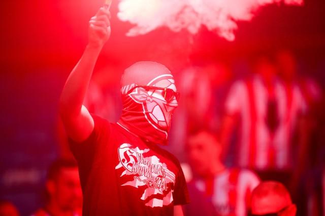 Kibice na stadionie Arena Lublin podczas finału Pucharu Polski Cracovia - Lechia Gdańsk 24.07.2020