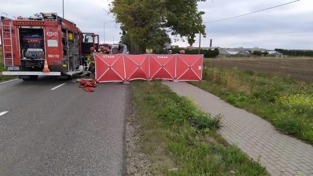 Śmiertelny wypadek w Pogórzu (gmina Kosakowo) 4.09.2020,