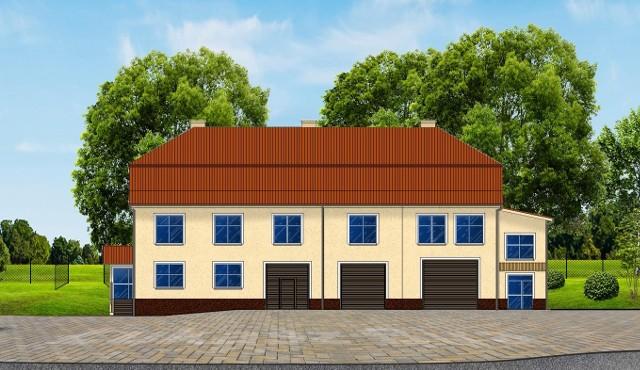 Wizualizacja: tak ma wyglądać Wiejski Dom Kultury w Czarnochowicach koło Wieliczki po zakończeniu rozbudowy