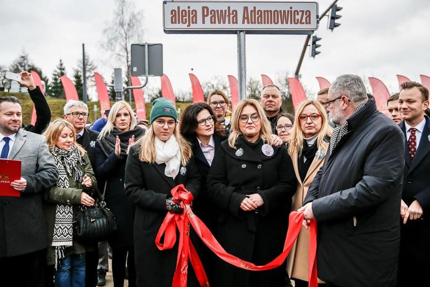 Uroczyste nadanie imienia Pawła Adamowicza nowej trasie na...