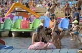 Świętokrzyska Ibiza znów oblężona! W sobotę nad zalewem w Sielpi wypoczywały tłumy [ZDJĘCIA, FILM]