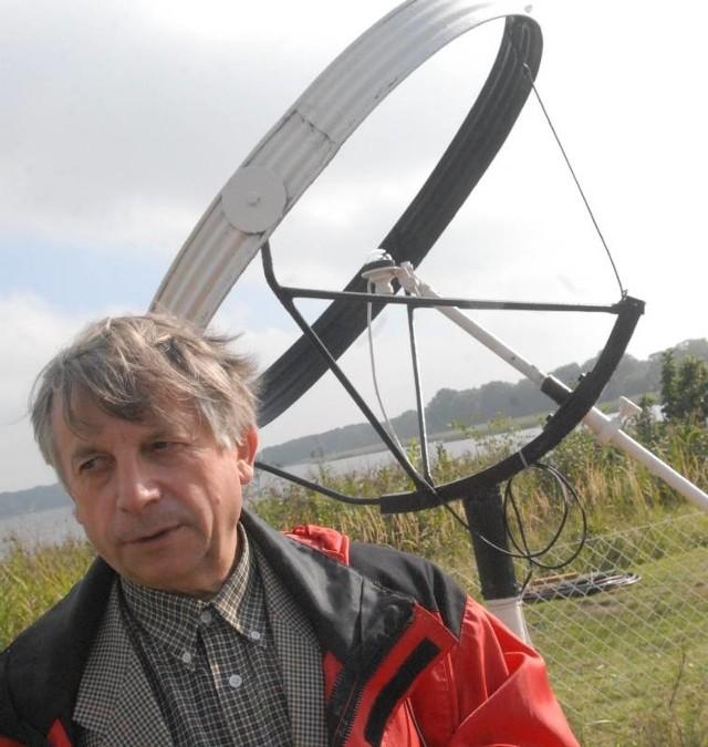 Alfred Rösler, szef stacji hydrologicznej w Radzyniu, która właśnie obchodzi 40. urodziny (fot. Paweł Janczaruk)