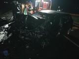 Wypadek na DK5. Czołowe zderzenie, helikopter uziemiony (ZDJĘCIA)