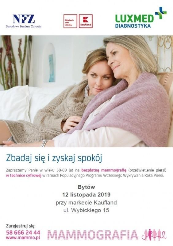 Dziś (wtorek) możesz wykonać mammografię.