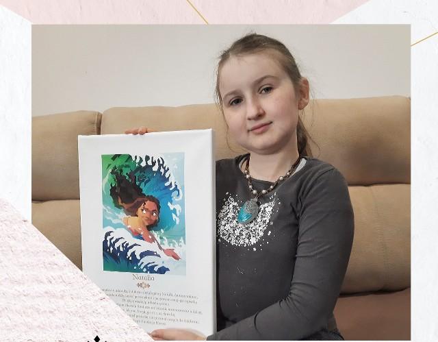 Natalka Przedborska z dedykacja od Disneya.