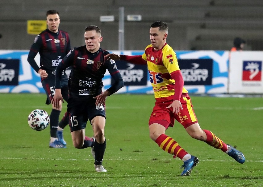 Hubert Matynia (15.) jeszcze w tym sezonie może zagrać setny mecz w Pogoni w ekstraklasie.