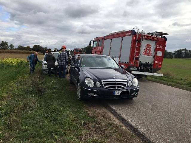Do zdarzenia doszło w piątek, 4 października, ok. godz. 13. Osobowy Renault wjechał w tył auta marki Mercedes. Na szczęście nikomu nic się nie stało.