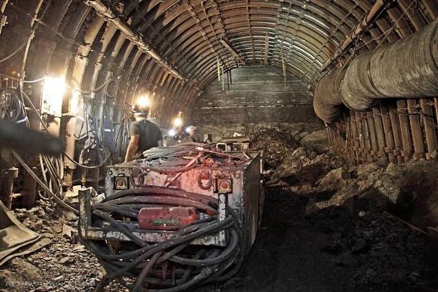 Przodek w kopalni w Bogdance