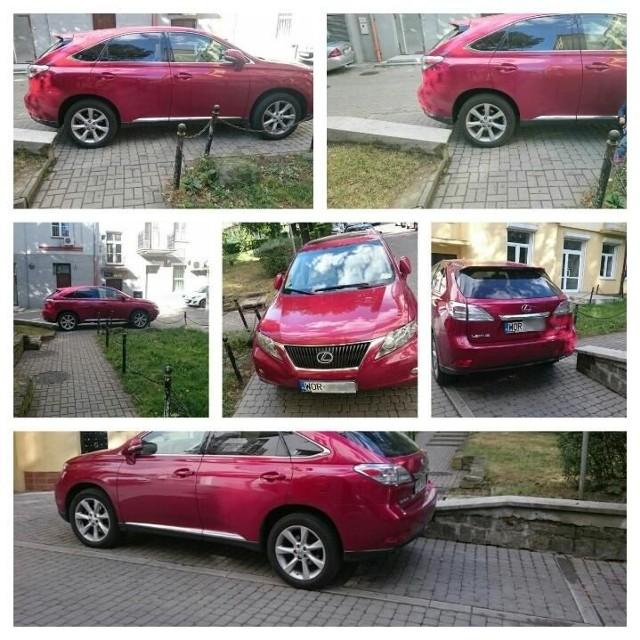 Parkowanie na chama na ul. Grochowej w Białymstoku