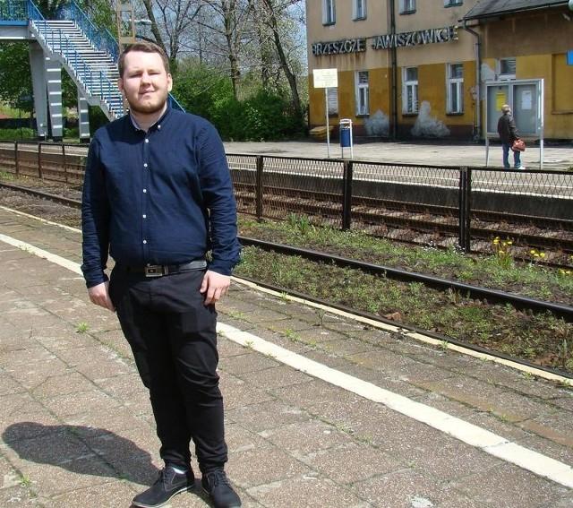 """Dawid Szczepański, prezes Stowarzyszenia """"BRZOST"""" w Brzeszczach"""