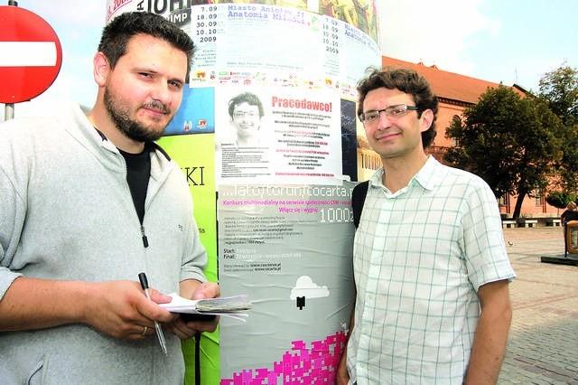 - Popieram kreatywne podejście do szukania pracy, takie jak ogłoszenie na słupie z własną ofertą` - mówi Mariusz Zarzycki