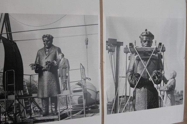 Włodzimierz Małek dokumentował powstawanie pomnika Reymonta