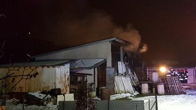 Pożar na Opolskiej w Łodzi