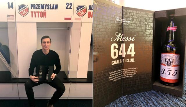 Przemysław Tytoń otrzymał piwo od Leo Messiego