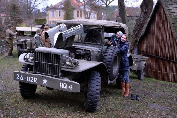 Pokaz aut militarnych w Kuźni Wodnej