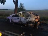 Śmiertelny wypadek pod Łodzią. Kierowca spłonął w samochodzie. To było samobójstwo?!