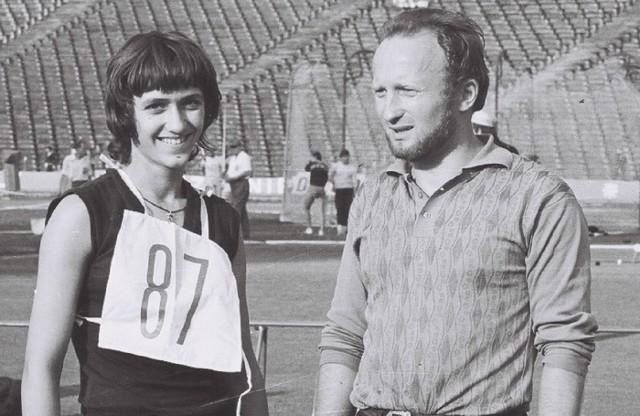 Rok 1969. Trener Zenon Matuszak z Zenoną Graczyk