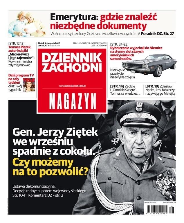 Okładki alternatywne Dziennika Zachodniego wyd. MAGAZYN 4 sierpnia 2017