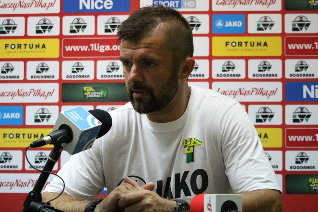 Na zdjęciu Rafał Wójcik, trener Górnika Łęczna