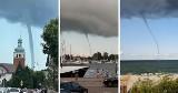 Sceny jak z filmu katastroficznego! Trąby wodne nad Bałtykiem. Niesamowite zjawisko nad wodami Zatoki Puckiej!