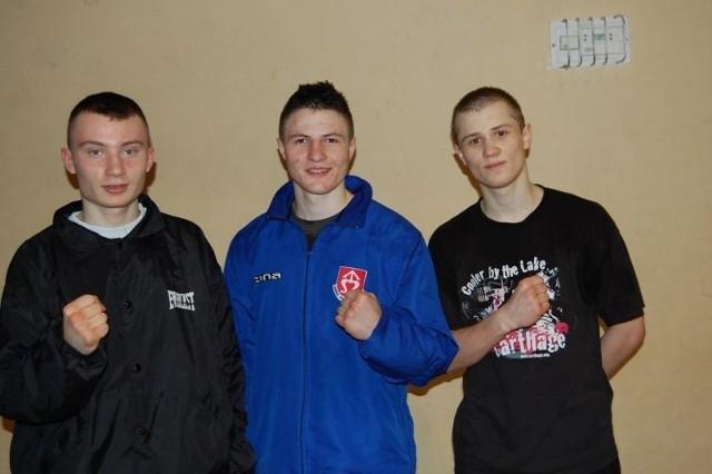 Od lewej: Kamil Micał, Seweryn Guzior i Seweryn Świetlik