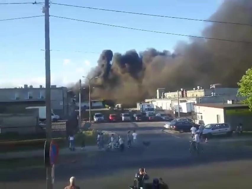 Pożar hali przy ul. Dojnowskiej
