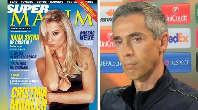 Cristina Möhler jako gwiazda telewizji na okładce magazynu (2002 r.) i Paulo Sousa jako trener Fiorentiny (2015 r.)