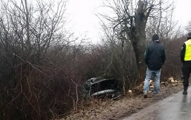 Auto uderzyło w drzewo i wpadło do rowu