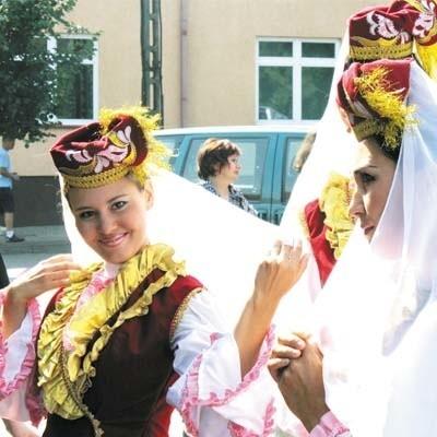 Jeden z zespołów, które zaprezentowały się podczas akademii, przyjechał na Szlak Tatarski aż z dalekiej Baszkirii