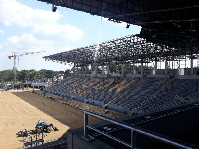 Stadion Pogoni Szczecin - stan 15 sierpnia 2020.