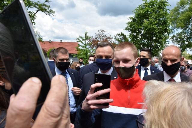 Andrzej Duda w Alwerni spotkał się z mieszkańcami