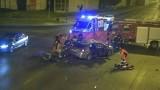 Łódź: Śmiertelny wypadek na al. Włókniarzy. W zderzeniu mitsubishi z motocyklem zginęły dwie osoby ZDJĘCIA