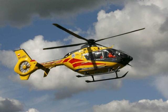 Na miejsce wypadku, do którego doszło w Kołaczkowie, wezwano Lotnicze Pogotowie Ratunkowe.