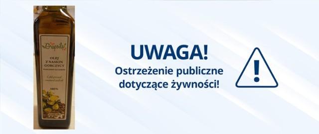 """GIS ostrzega przed olejem z Węgier, w którym stwierdzono przekroczenie najwyższego dopuszczalnego poziomu kwasu erukowego. Kliknij w przycisk """"zobacz galerię"""" i przesuwaj zdjęcia w prawo - naciśnij strzałkę lub przycisk NASTĘPNE."""