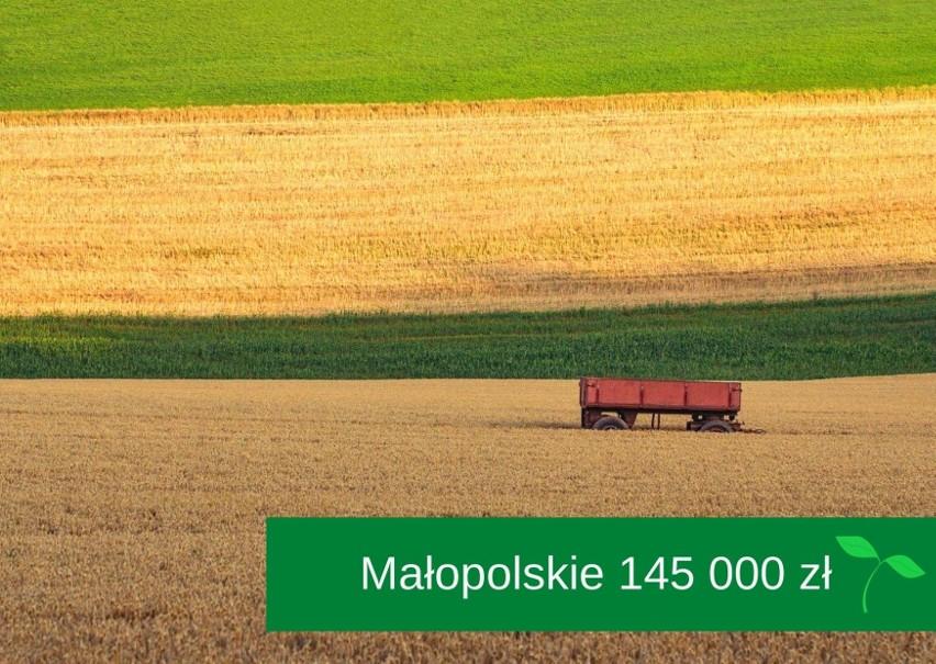 Szacunkowa wartość gruntów przeciętnego gospodarstwa na...