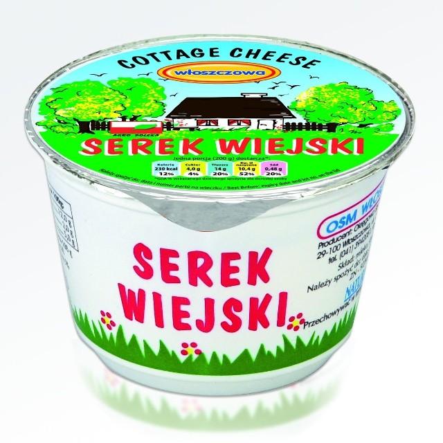Serek wiejski Okręgowej Spółdzielni Mleczarskiej we Włoszczowie szybko zdobył zaufanie konsumentów przez swój wyjątkowy smak.