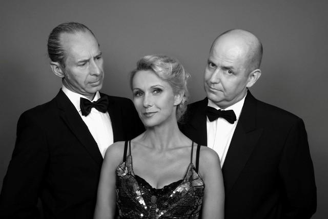 Izabellę Bukowską-Chądzyńską zobaczymy w Scenie na Piętrze razem z Adamem Biedrzyckim (z lewej) i Sławomirem Głazkiem