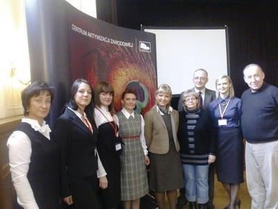 Organizatorzy i uczestnicy spotkania Fot. Ewa Tyrpa