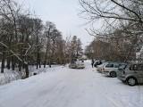 Zimowe krajobrazy nad Grabią w Kolumnie ZDJĘCIA