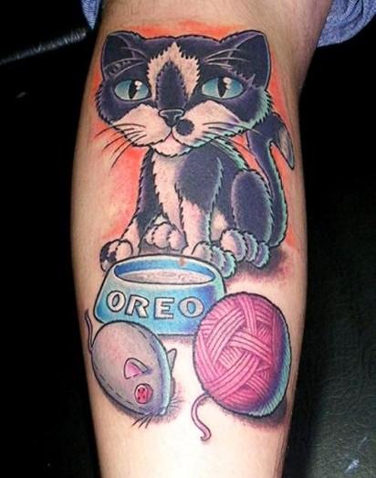 Tatuaz Kot Pepek