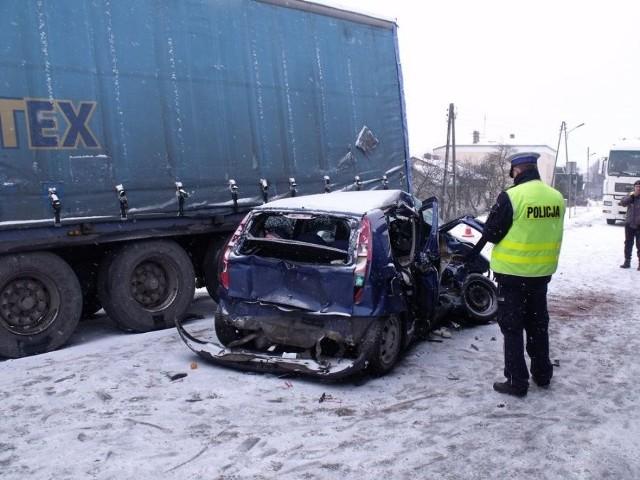 Wypadek w Pawonkowie na DK 46