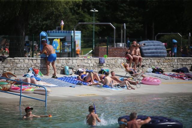 Gliwice: kąpielisko Leśne zawsze cieszy się popularnością. Podobnie było w słoneczny weekend