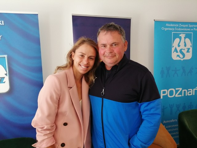 Magda Linette z jej najwierniejszym kibicem, czyli z tatą Tomaszem