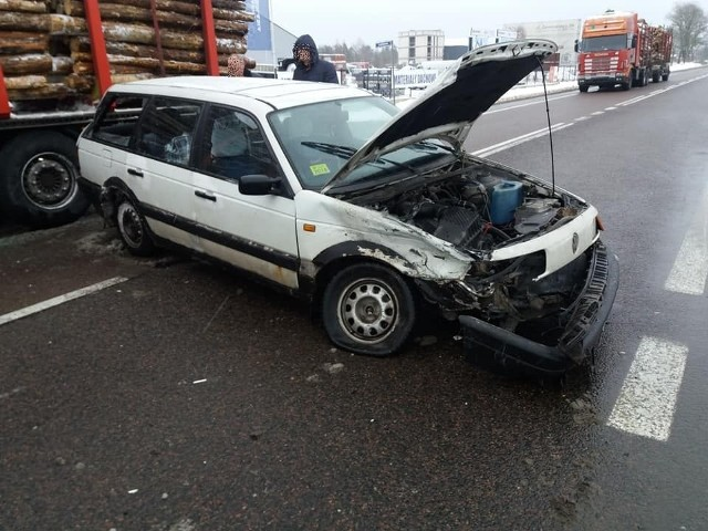 W poniedziałek, około godz. 12, na Szosie Baranowickiej doszło do wypadkuZdjęcia pochodzą z fanpejdża Kolizyjne Podlasie