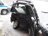 Wypadek na skrzyżowaniu Kilińskiego i Tylnej w Łodzi! Bardzo złe warunki na drogach! ZDJĘCIA