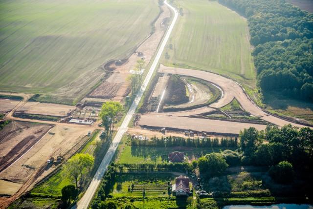 Budowa drogi S3 w okolicach Bolkowa, stan prac na koniec września 2016